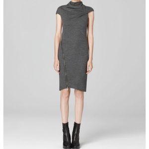 Helmut Lang Gray Sonar Dress